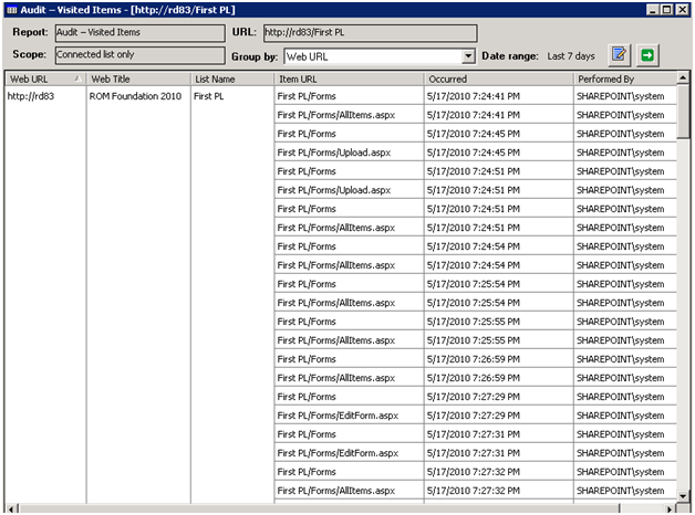 SharePoint Auditing with ARKSP 2010