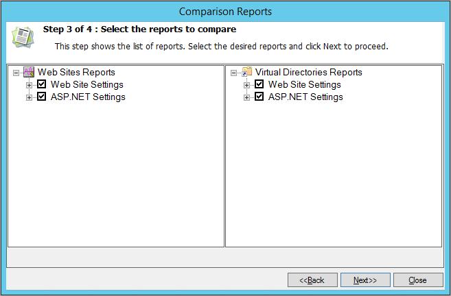Reports to compare
