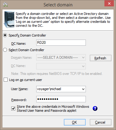 Domain control name