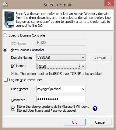Select domain controller