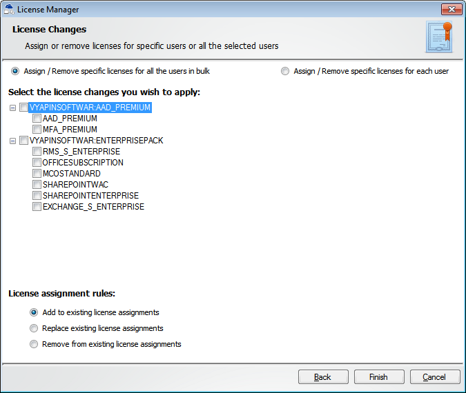Office 365 License Manager