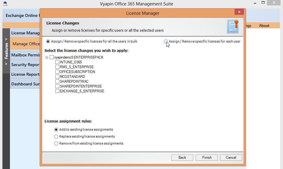 Bulk user license Office 365