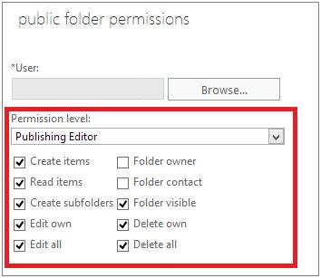 public folder permissions