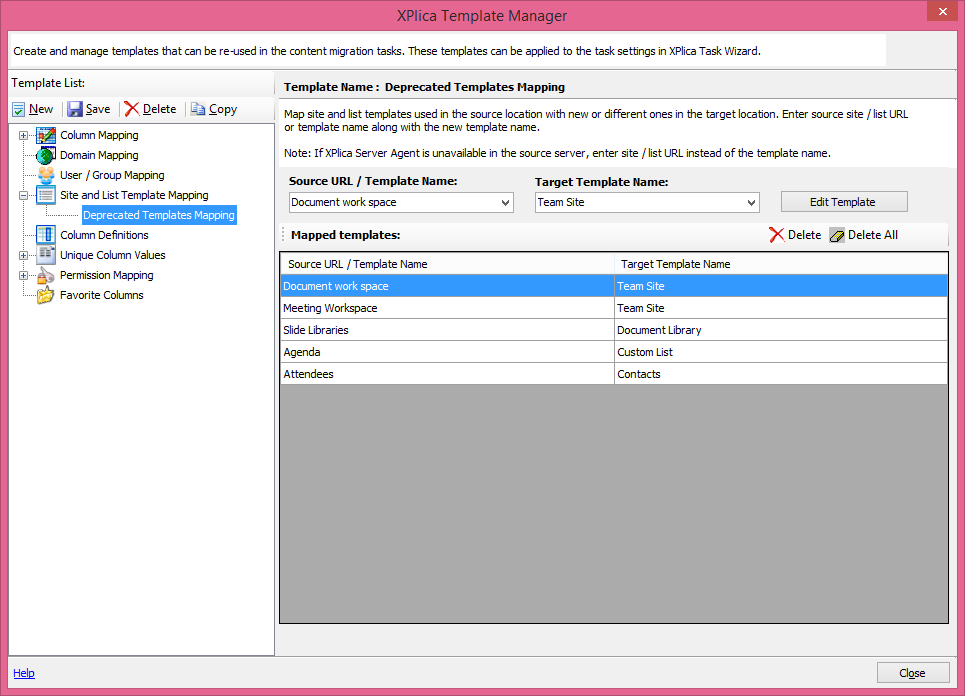 XPlica template manager