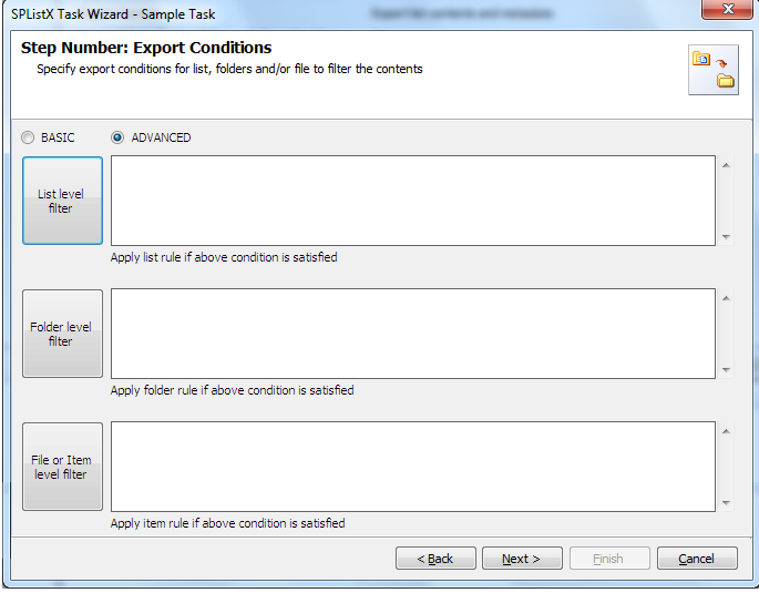 Advanced Filter in Export