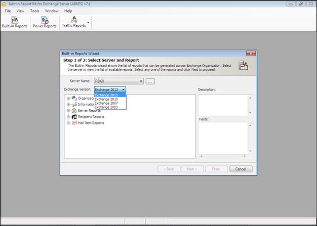 Exchange Server 2013 Reports