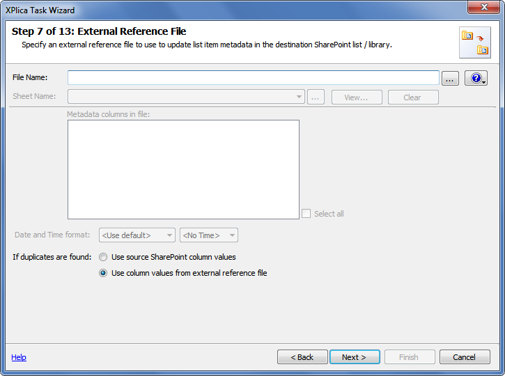 external reference file