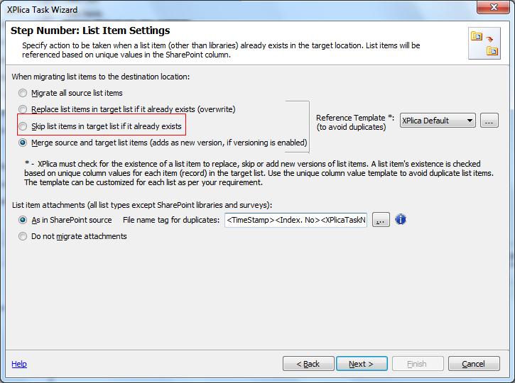 SharePoint List Items Settings