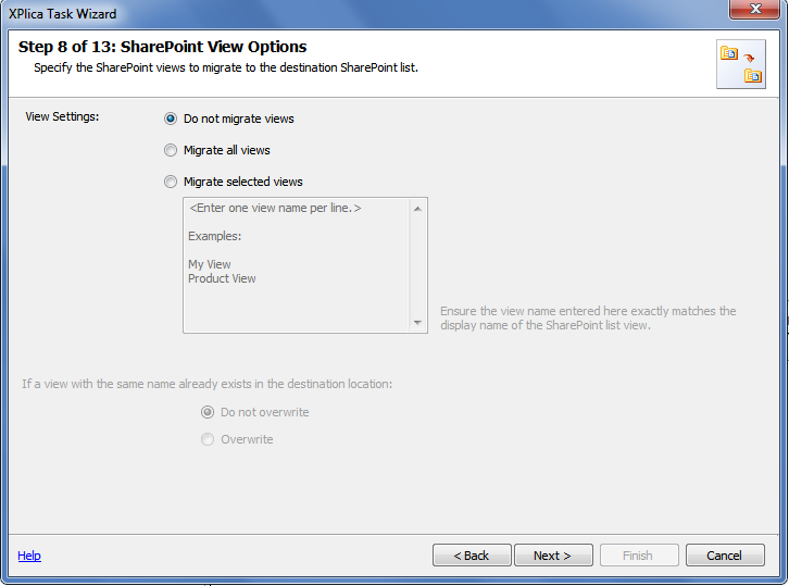 sharepoint view options