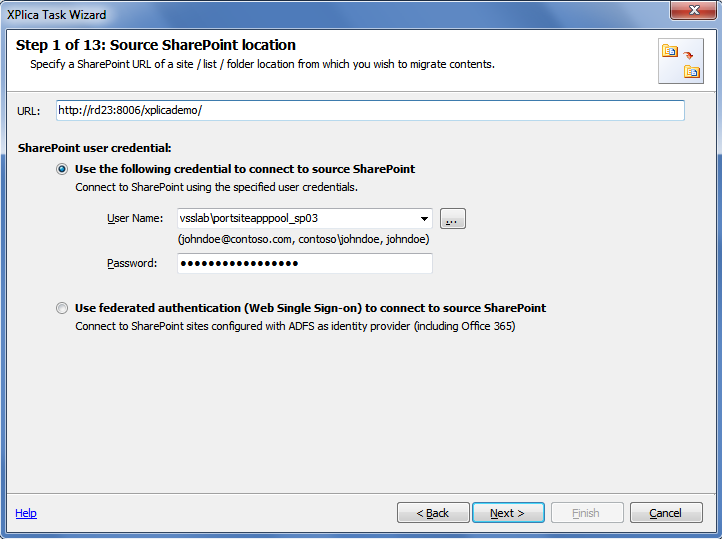 source sharepoint location