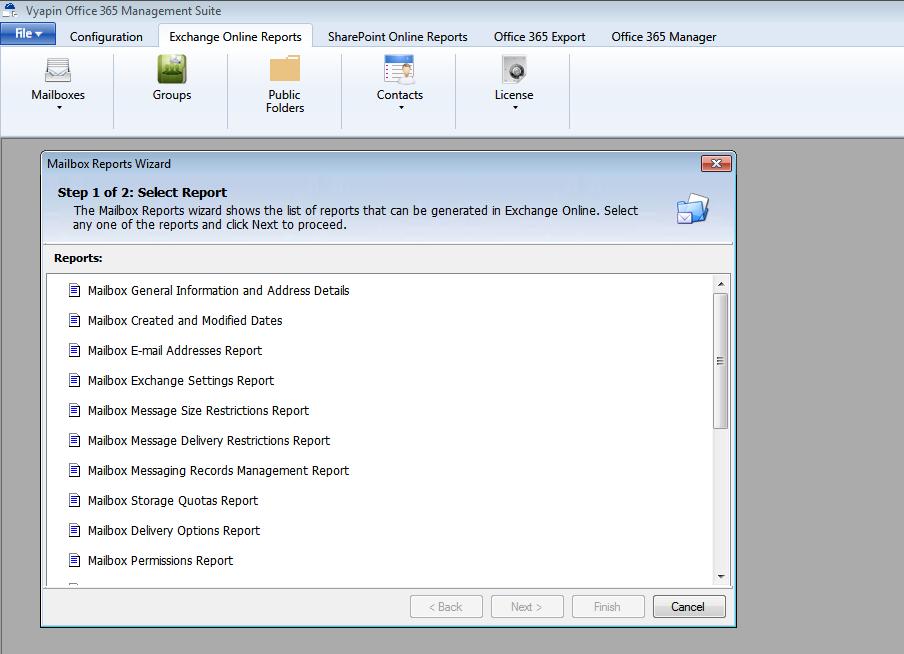 Office 365 Exchange Online Reports