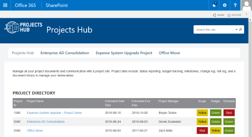 Projects Hub