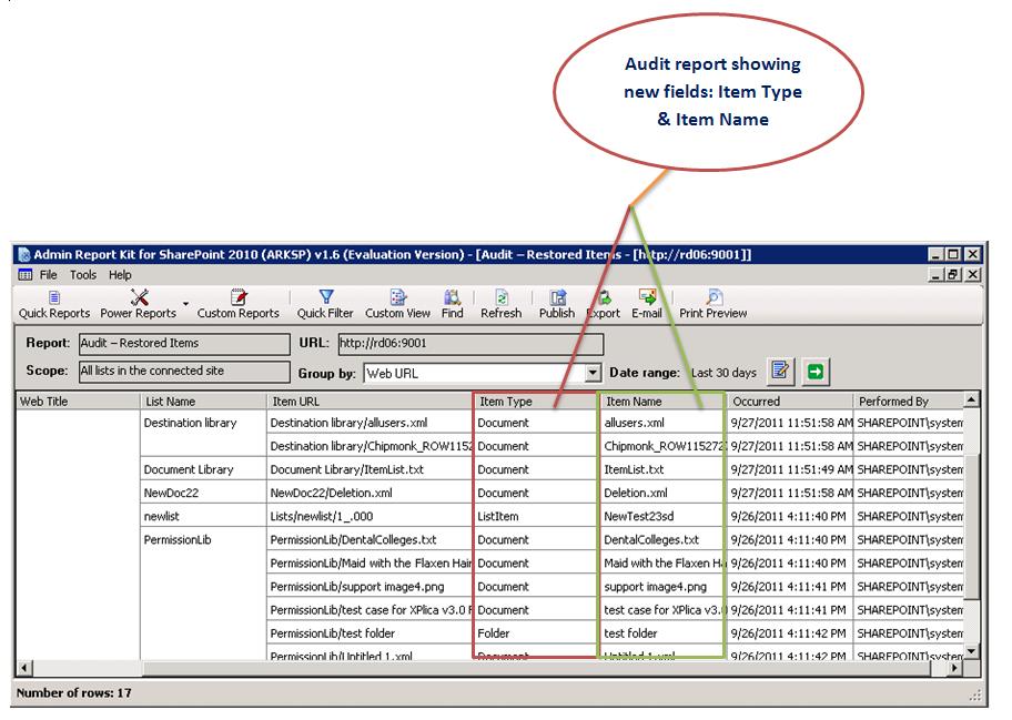 30 days default audit period