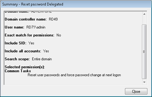 reset password delegated