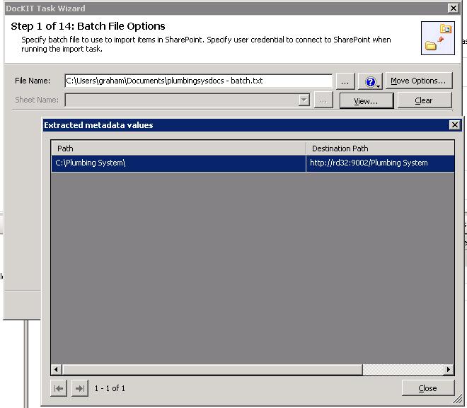 Batch File Options
