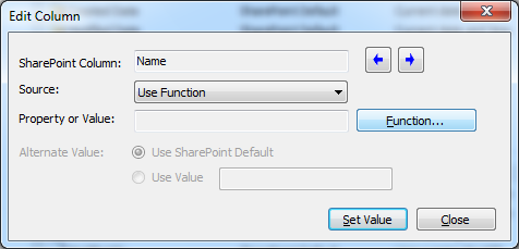 edit column function