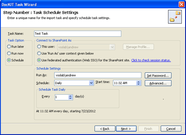 tasks schedule settings 2