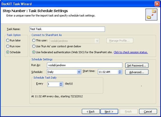 tasks schedule settings 2