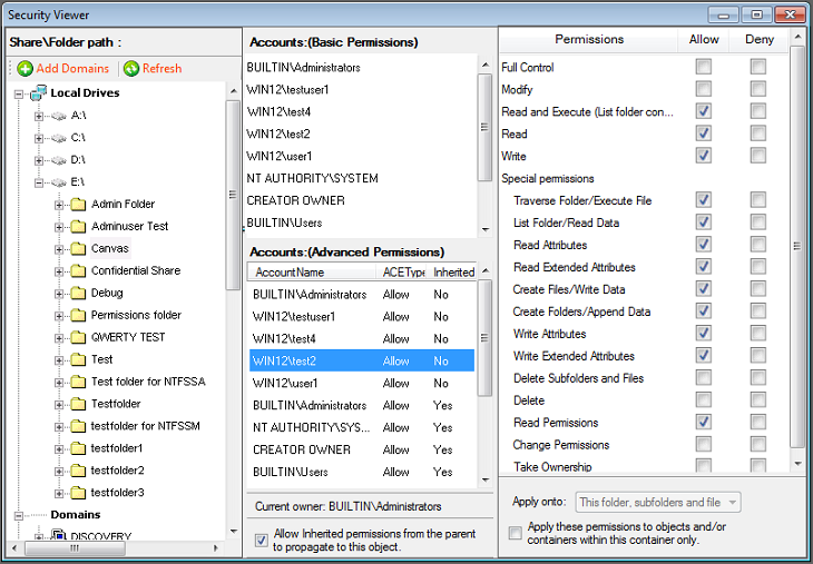security viewer advanced permissions