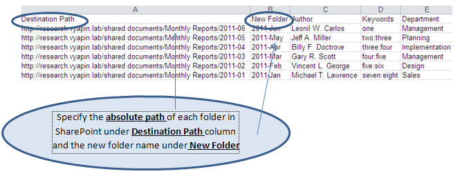 Rename folders that already exist in SharePoint