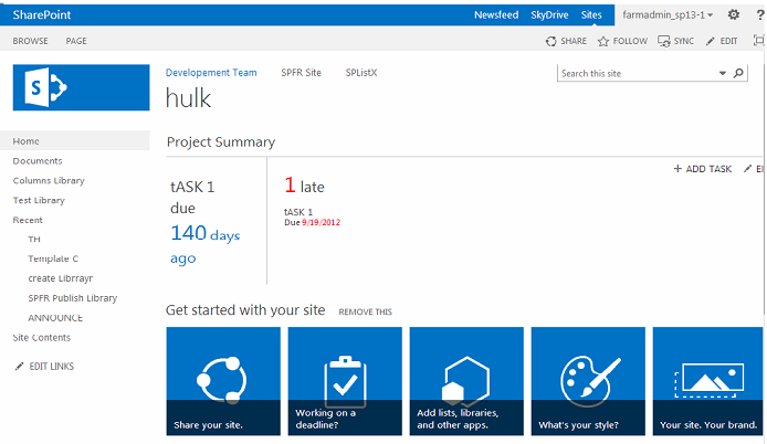 SharePoint 2013 site
