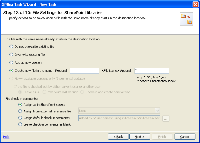 file settings for sharepoint libraries