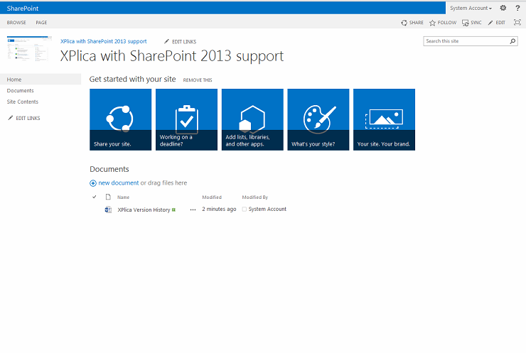 SharePoint 2013 support