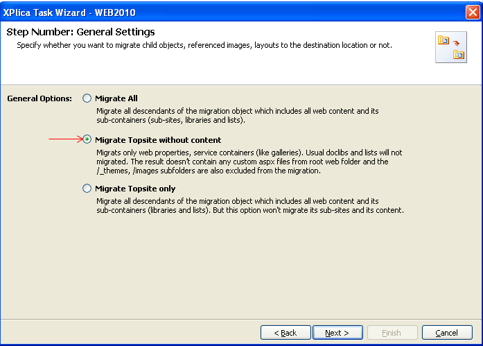 xplica task wizard general settings