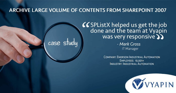 SharePoint content export case study
