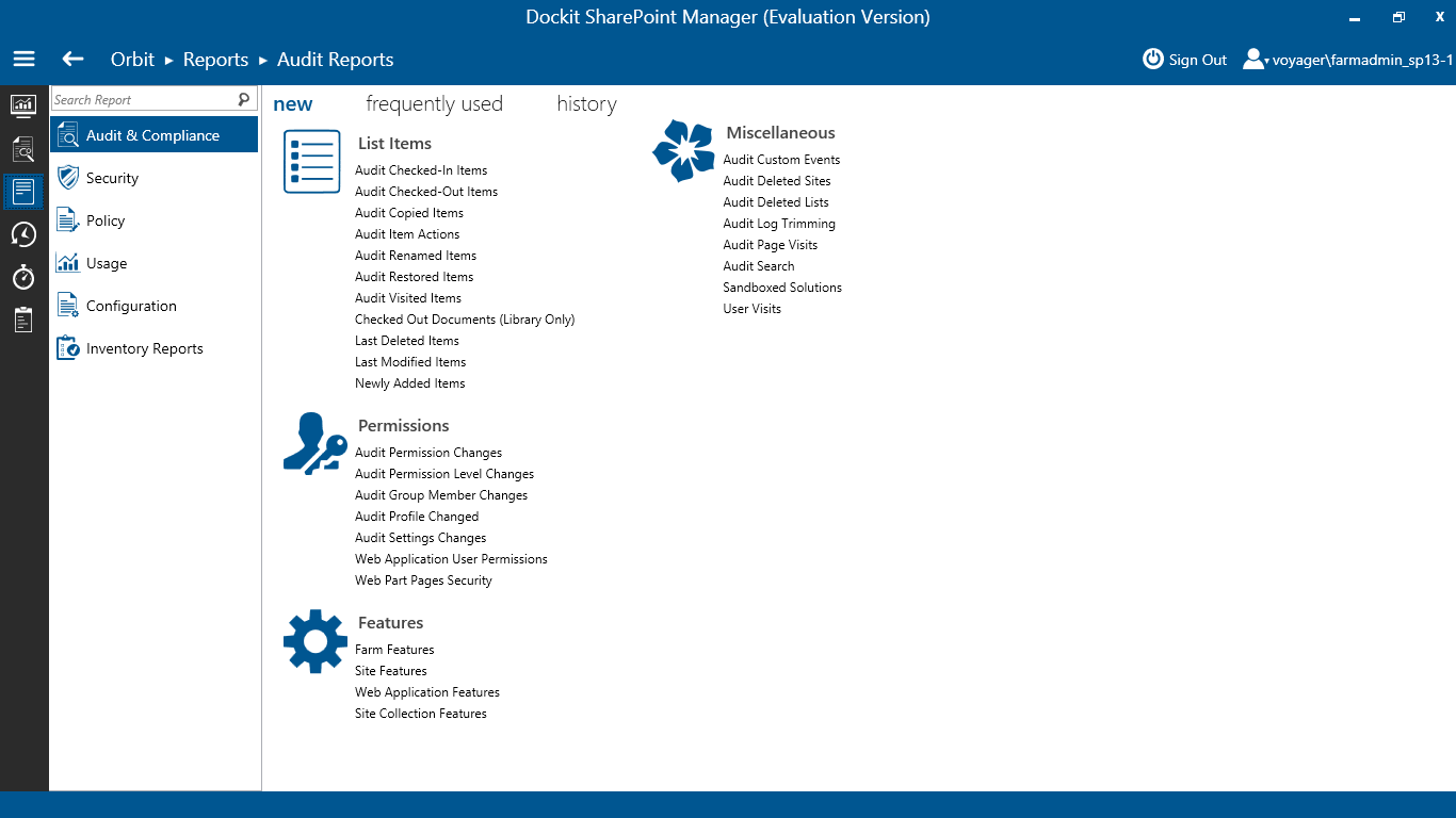 Dockit SharePoint Server Manager