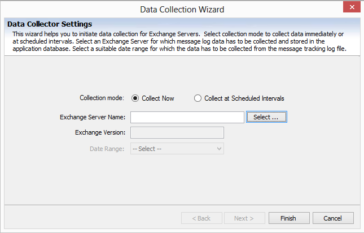 Collects data from the Message Tracking Log files of the Exchange Server