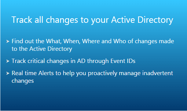 Track all Changes in Active Directory