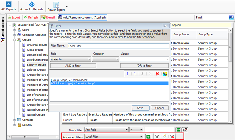 Features of Active Directory Audit Report Tool: Audit, Customize & Generate AD Permissions Report