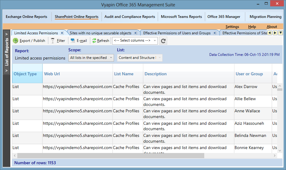 SharePoint Online Permissions Report with Limited Access