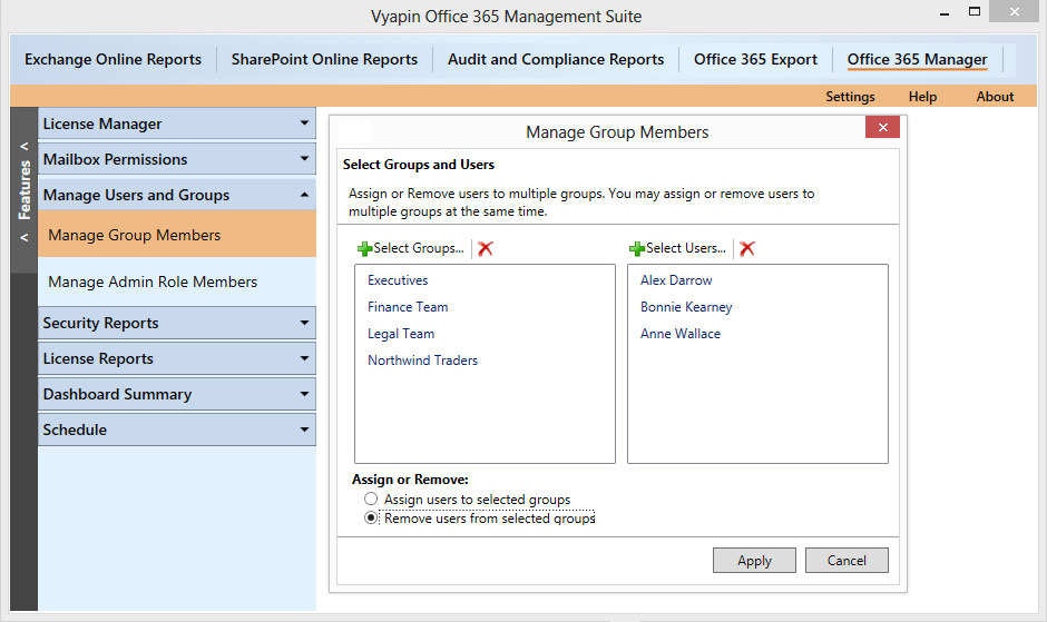Office 365 Management Tool – Features that admins look for | Vyapin