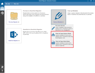 Import metadata and its associated file attachments to SharePoint lists