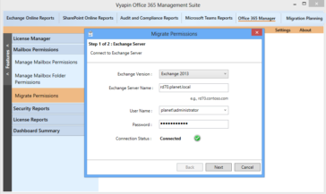 Migrate mailbox permissions from on-premise to Office 365