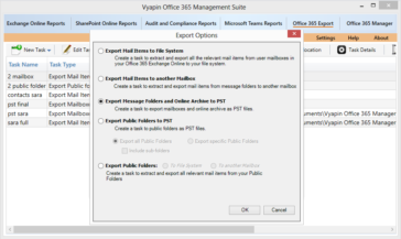 Export Office 365 Mailboxes and Public Folders as PST