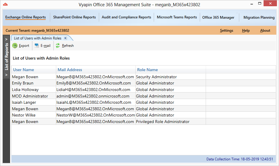 Office 365 Reporting Tool   No-Script, Automated Office 365