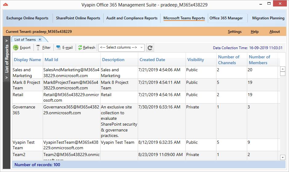 Microsoft Teams Reporting Tools full screenshot
